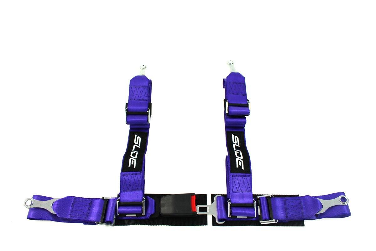 "Pasy sportowe SLIDE 4p 2"" Purple - GRUBYGARAGE - Sklep Tuningowy"